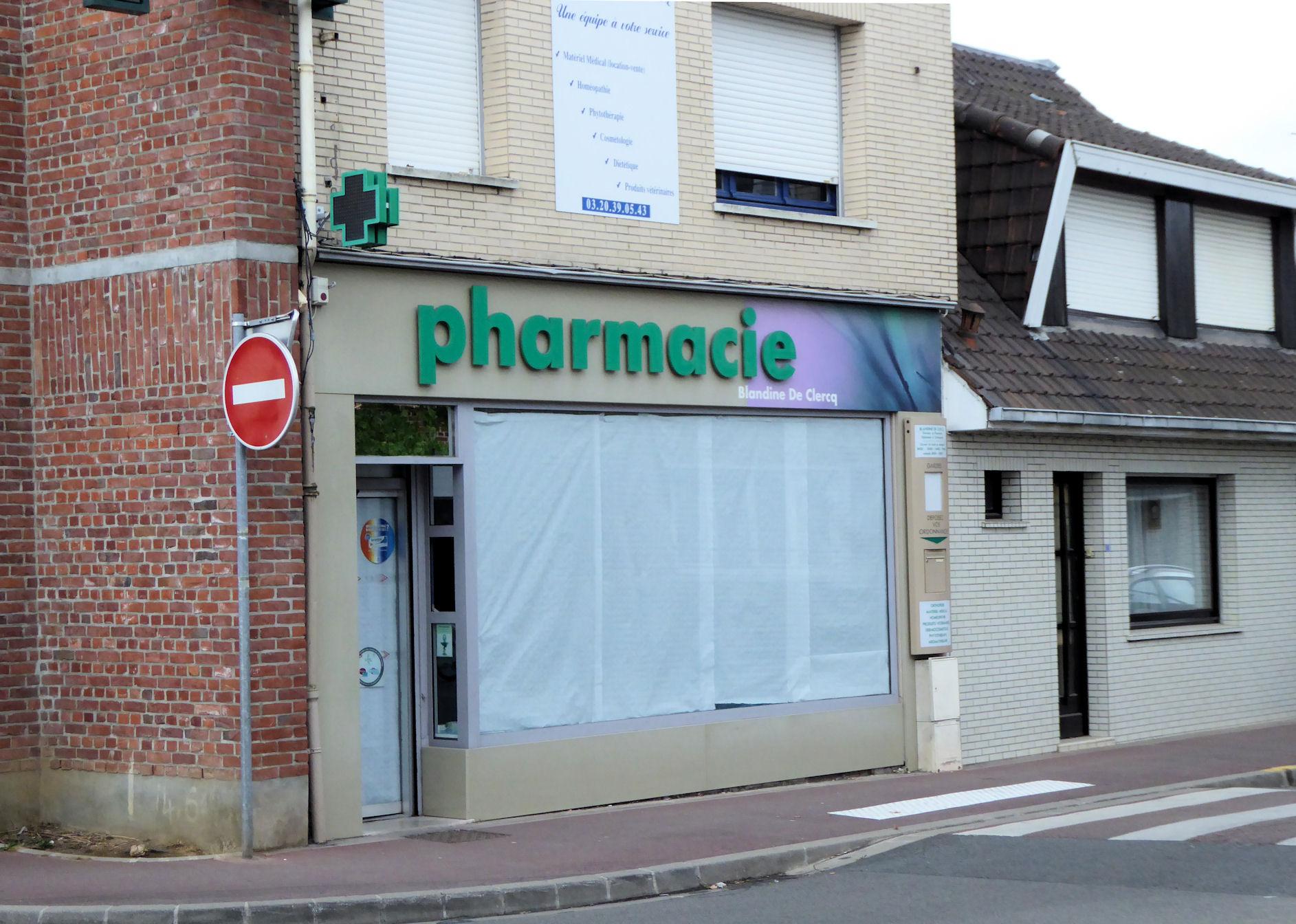 Comines Évolution commerciale : Fermeture de la Pharmacie